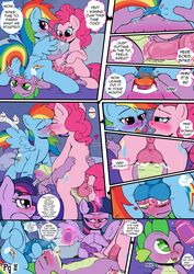 anus balls comic english_text friendship_is_magic kyokimute male my_little_pony penis pinkie_pie_(mlp) rainbow_dash_(mlp) spike_(mlp) text twilight_sparkle_(mlp)