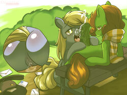 3mangos ass blush cum derpy_hooves female friendship_is_magic male my_little_pony oral penis pussy scarf sex