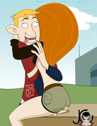 dibujox emma-erotic female fingering human kim_possible kimberly_ann_possible male ron_stoppable short_shorts straight