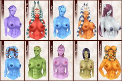 10girls aayla_secura abs ahsoka_tano alien areola barriss_offee blue_skin breasts character_request councilor_tevos crossover draenai eleyna green_skin hips horns huge_breasts large_breasts liara_t'soni lips looking_at_viewer mass_effect monster_girl multiple_females muscle_tone muscular_female nipples orange_skin perky_breasts pose purple_skin red_skin shaak_ti shiala skyriderplus small_waist smile star_wars sweat tagme tali'zorah_nar_rayya tattoos warcraft white_skin wide_hips world_of_warcraft