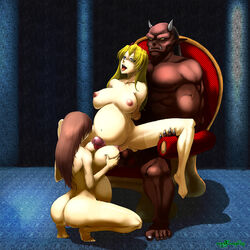 2girls abs arms_behind_back ass bangs biceps black_fingernails blonde_hair blue_eyes bound breast_grab breast_squeeze breasts broken_rape_victim brown_hair catwalk_nero claws demon drooling erect erect_penis erection female fucked_silly happy_sex horns huge_breasts huge_penis inda_no_himekishi_janne inverted_nipples janne large_areola large_ass large_penis leg_grab long_hair male milf monster monster_rape multiple_penises muscular nipples ogre open_mouth paizuri penis perky_breasts pregnant princess_knight_janne puffy_areola rape red_skin rolling_eyes shiny smile spread_legs spreading squatting thighhighs thighs tongue tongue_out veins yellow_sclera