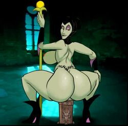 animated ass big_breasts boots bouncing_breasts dat_ass dildo disney elbow_gloves from_behind gloves maleficent milf purplemantis sideboob sleeping_beauty staff tattoo tramp_stamp window witch