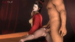 anal anal_penetration anal_sex animated anus black_hair breasts breasts_out civilization civilization_v dangling_testicles erect_nipples female from_behind fugtrup hairbun huge_penis large_breasts large_penis large_testicles leg_up lipstick long_hair looking_back makeup male nipples penis perky_breasts pussy red_lipstick source_filmmaker spread_legs spreading testicles vagina waist_grab wu_zetian