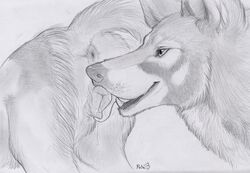 2015 ambiguous_gender animal_genitalia anus canine canine_pussy cunnilingus female feral feral_on_feral licking mammal oral paper-wings pussy sex sketch tongue tongue_out vaginal_penetration
