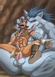 2boys abs anal boy_rape canine chest furry furry_on_human gay goggles human humansub interspecies licking male malesub multiple_boys muscle muscles necklace nude pain pecs penis rape sharp_teeth sitting size_difference spread_legs spreading sweat tear unknown_artist werewolf wolf yaoi zoofilia