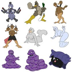 anthro dewgong dodrio doduo farfetch'd furry grimer magneton muk nintendo pokemon pokemorph pokephilia seel shellder video_games