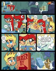 2girls glasses jab johnny_test johnny_testicles lila_test mary_test red_hair sisters susan_test