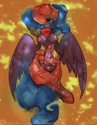 alicorn animal_genitalia anthro anthrofied atryl balls breasts clothed clothing cosplay dickgirl equine friendship_is_magic hair hat horn horsecock intersex looking_at_viewer mammal my_little_pony penis princess_luna_(mlp) skimpy solo wings