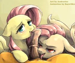 2014 animal_genitalia animated audrarius bat_pony equine erection fangs feathers fellatio female first_person_view flutterbat_(mlp) fluttershy_(mlp) friendship_is_magic fur group group_sex happy horse horsecock licking looking_at_viewer male mammal my_little_pony open_mouth oral oral_sex pegasus penis pony sex sharp_teeth smile snowlik3 straight teeth threesome tongue tongue_out wings