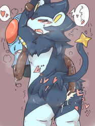 anal blush bondage bondage bound cum cum_in_ass cum_inside forced gay heart luxray male nintendo pokemon rape s5941 shivering squint tentacle tentacle_rape tentacool video_games らんたんちゃん