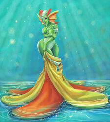 a_link_between_worlds blue_eyes blue_nipples breasts evanight female green_skin lips oren pussy royalty the_legend_of_zelda undressing video_games wide_hips zora