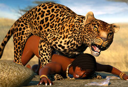 canis3 feline female feral forced human interspecies leopard mammal panther rape sex zoophilia