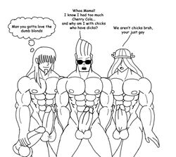 crossover dexter's_laboratory human johnny_bravo johnny_bravo_(series) justice_friends male male_only multiple_males val_hallen yaoi