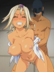 animated blonde_hair bouncing_breasts breasts censored clenched_teeth doggy_style doggy_style eyess_closed game_over animated gyaru hair_pull kizaki_caldina nipples nude open_clothes open_shirt piercing pisu_hame pussy_juice rape sex sweat tan_skin