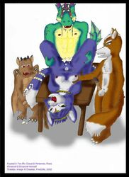 2002 anthro barefoot bindi blue_fur blue_hair breasts claws color female fox fox_mccloud fur furry furry_breasts furry_ears furry_tail hair interspecies jewelry krystal lying male nipples nude on_back open_mouth pointy_ears sex short_hair standing star_fox tail white_fur