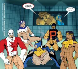 alpha_flight guardian male marvel multiple_males native_american northstar puck sasquatch shaman snowbird wolverine x-men yaoi