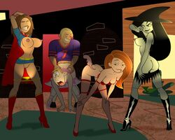 bonnie_rockwaller brick_flagg female gagala human kim_possible kimberly_ann_possible male ron_stoppable rufus shego straight tagme yuri