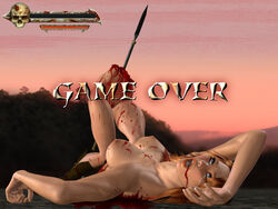 blood dead game_over golden_axe guro spear tagme tyris_flare