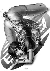 artist_request breast_press breasts cum dead_or_alive dress dress_lift ejaculation futanari greyscale kasumi large_breasts large_penis loincloth masturbation monochrome open_mouth orgasm penis saliva sweat tear thighhighs top-down_bottom-up vibrator vibrator_under_panties