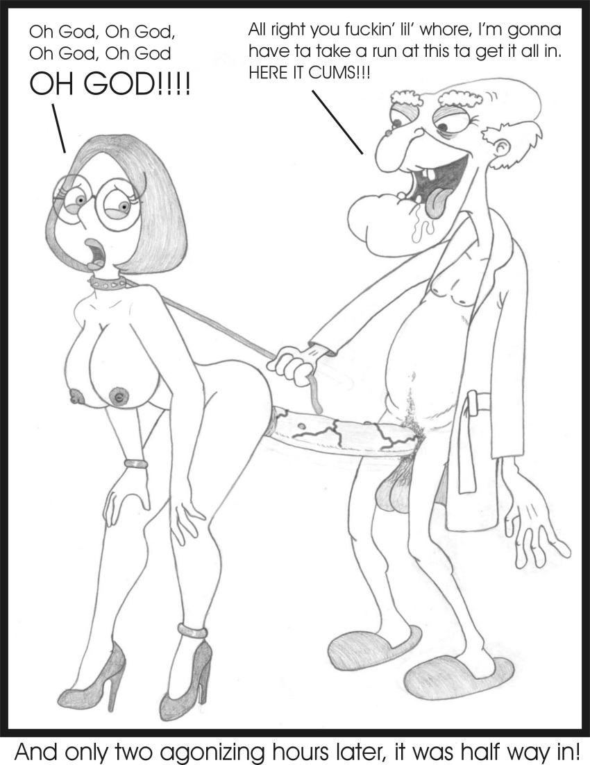 Family Guy Porn Pencil Art - age_difference family_guy female hair huge_cock human john_herbert male  meg_griffin mr._herbert old_man penis rape sbb