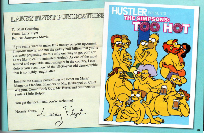 Hustler xxx simpsons