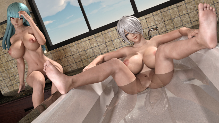 angel-kof-nude-disco-pantyhose-catfight
