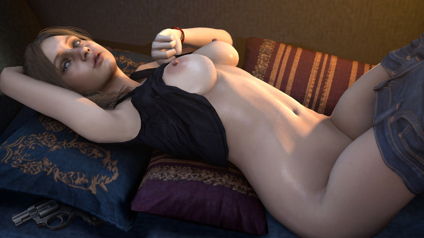 Resident Evil Redfield Tattoo Stockings Jiggle Boobies Mess Tubepornstars 1