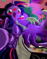 blush dragon equine female friendship_is_magic frist44 green_eyes horn horse licking male mammal my_little_pony open_mouth orgasm penetration pussy pussy_juice spike_(mlp) straight tongue tongue_out twilight_sparkle_(mlp) vaginal_penetration