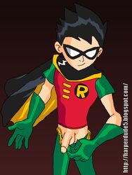 dc dcau dick_grayson human male male_only penis robin solo tagme teen_titans